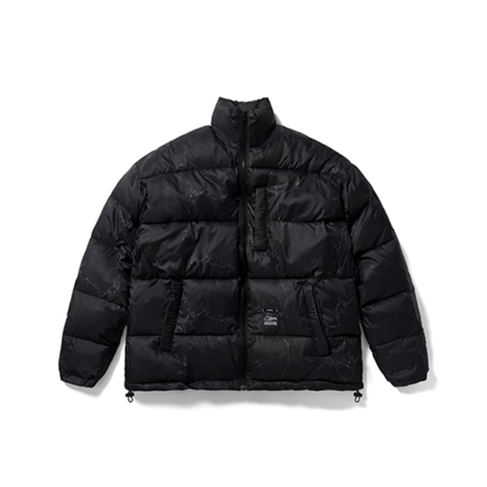 스티그마DV SHORT PADDING JACKET MARBLE BLACK - 풋셀스토어