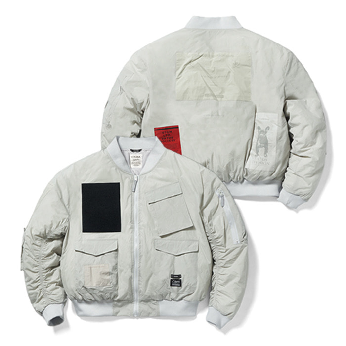 스티그마DV TECH OVERSIZED PADDING MA-1 JACKET GREY - 풋셀스토어