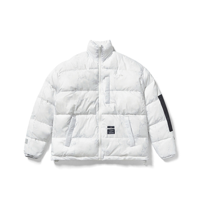 스티그마DV SHORT PADDING JACKET MARBLE WHITE - 풋셀스토어