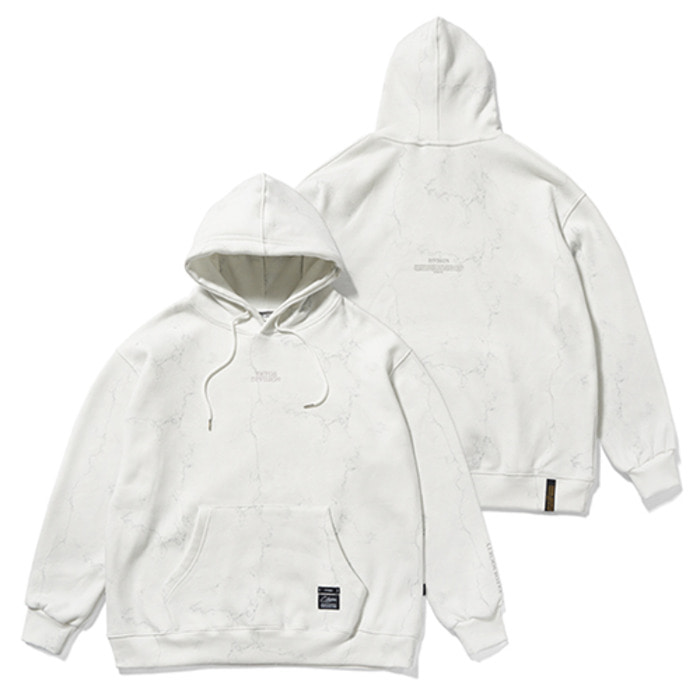 스티그마MARBLE OVERSIZED HEAVY SWEAT HOODIE WHITE - 풋셀스토어