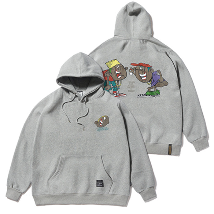 스티그마CARTOON OVERSIZED HEAVY SWEAT HOODIE GREY - 풋셀스토어