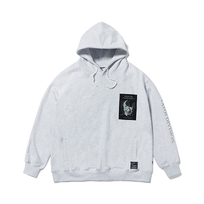 스티그마SKULL OVERSIZED HEAVY SWEAT HOODIE GREY - 풋셀스토어