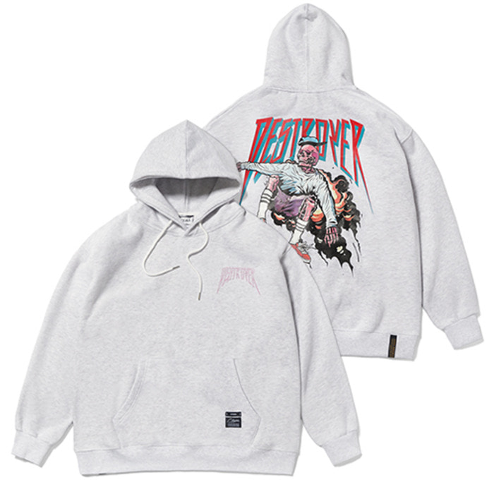 스티그마SKATE OVERSIZED HEAVY SWEAT HOODIE GREY - 풋셀스토어