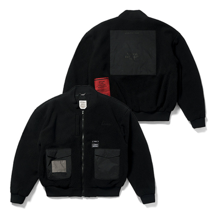 스티그마BLEND OVERSIZED FLEECE MA-1 JACKET BLACK - 풋셀스토어