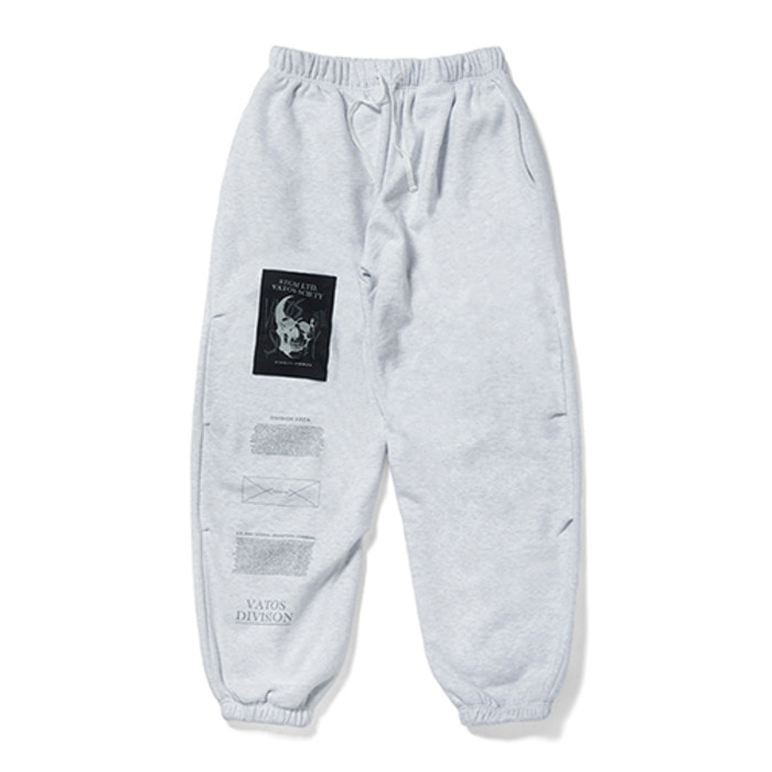 스티그마SKULL HEAVY SWEAT WIDE JOGGER PANTS GREY - 풋셀스토어