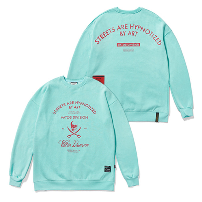 스티그마DIVISION CLASSIC OVERSIZED HEAVY SWEAT CREWNECK BLUE - 풋셀스토어