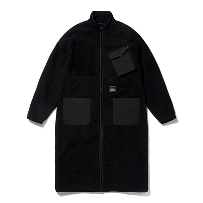 스티그마BLEND OVERSIZED FLEECE COAT BLACK - 풋셀스토어