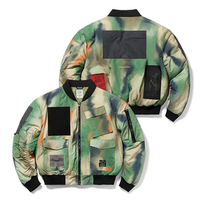 스티그마DV TECH OVERSIZED PADDING MA-1 JACKET PATTERN - 풋셀스토어