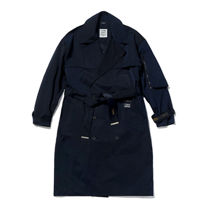 스티그마VSC OVERSIZED TRENCH COAT NAVY - 풋셀스토어