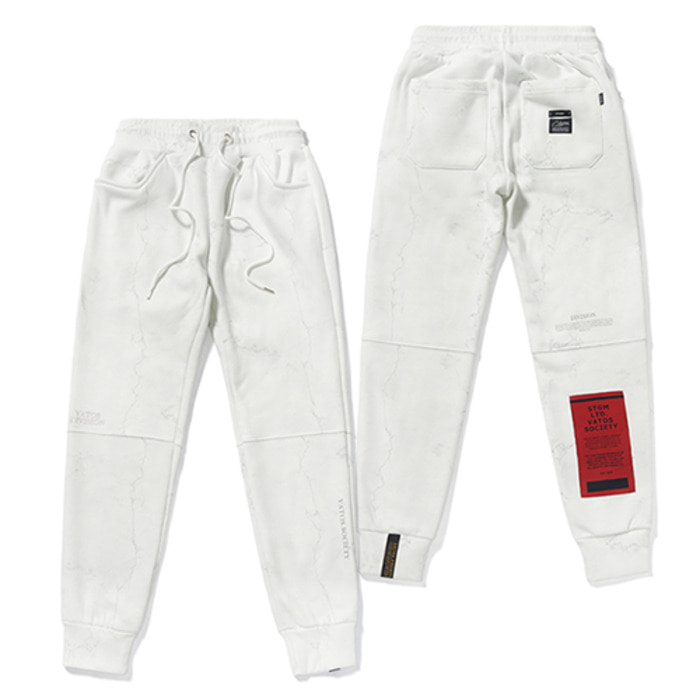 스티그마MARBLE HEAVY SWEAT JOGGER PANTS WHITE - 풋셀스토어