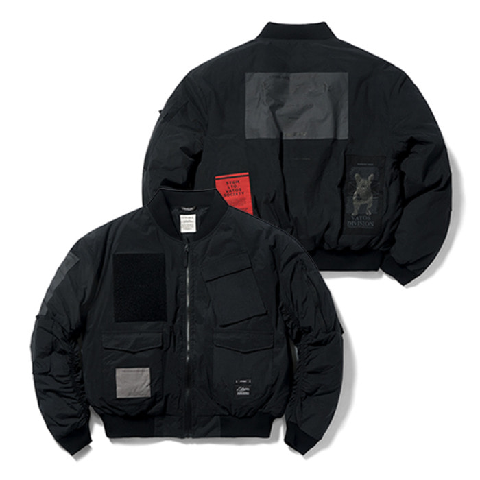 스티그마DV TECH OVERSIZED PADDING MA-1 JACKET BLACK - 풋셀스토어