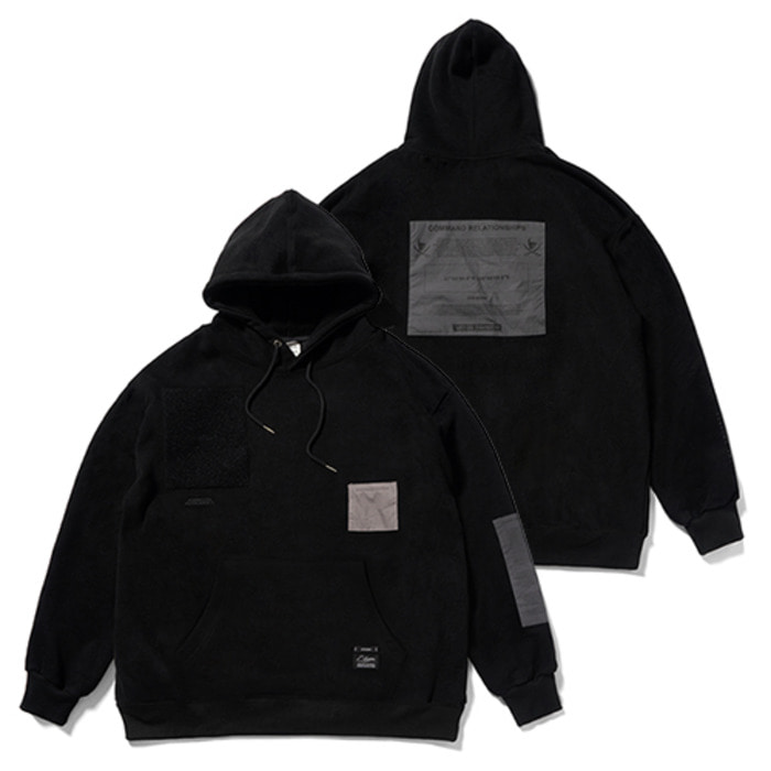 스티그마DV TECH OVERSIZED HEAVY SWEAT HOODIE BLACK - 풋셀스토어