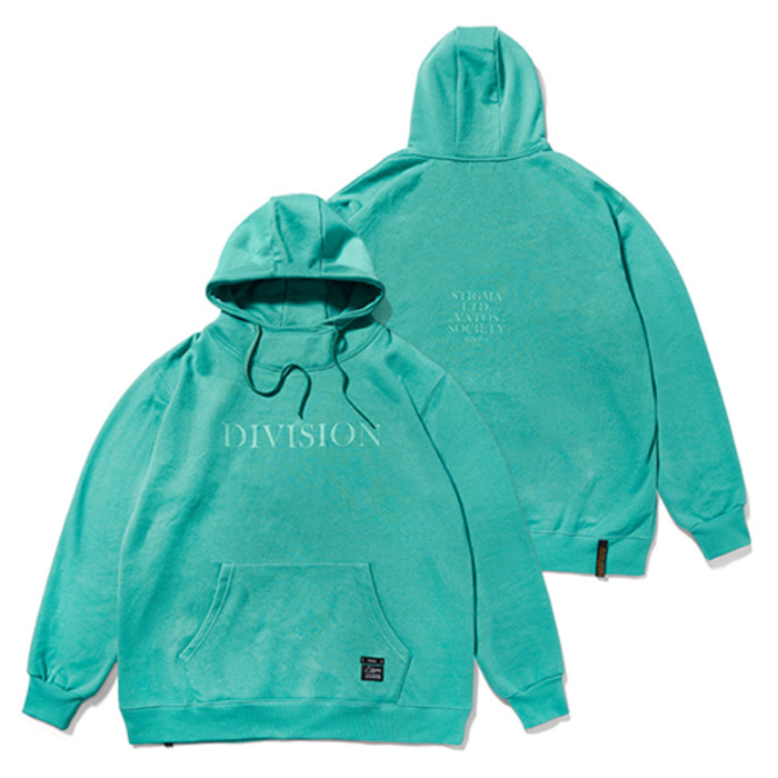 스티그마HIGH NECK OVERSIZED HEAVY SWEAT HOODIE BLUE GREEN - 풋셀스토어