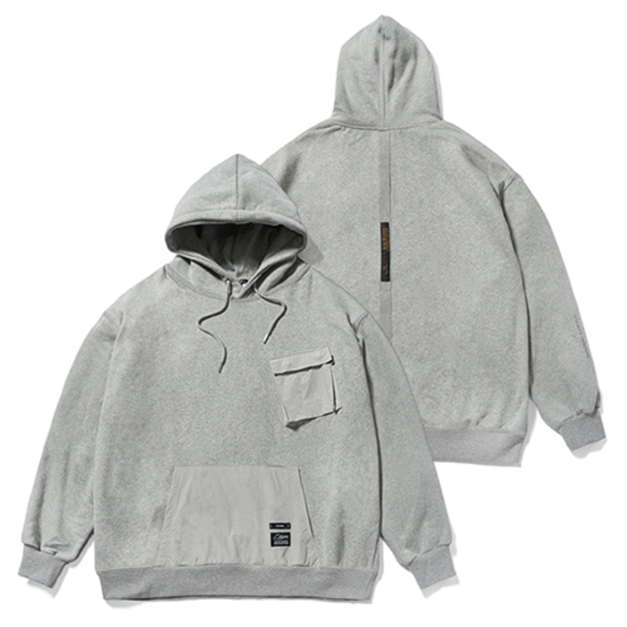 스티그마20 TECH OVERSIZED HEAVY SWEAT HOODIE GREY - 풋셀스토어