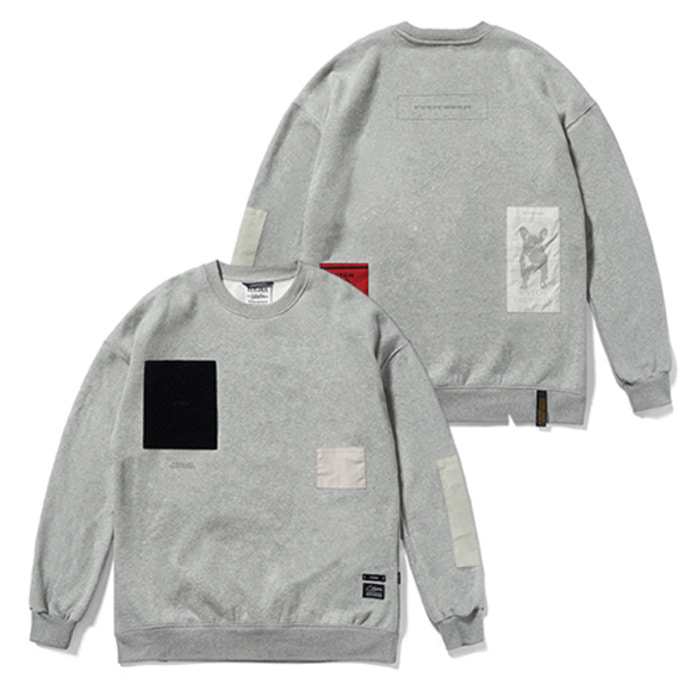 스티그마DV TECH OVERSIZED HEAVY SWEAT CREWNECK GREY - 풋셀스토어
