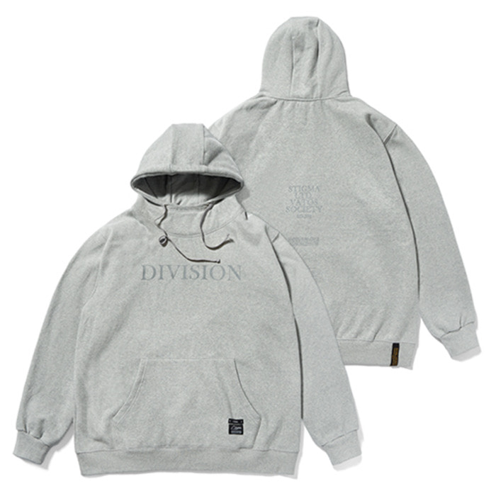 스티그마HIGH NECK OVERSIZED HEAVY SWEAT HOODIE GREY - 풋셀스토어
