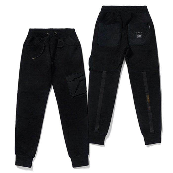 스티그마20 TECH HEAVY SWEAT JOGGER PANTS BLACK - 풋셀스토어
