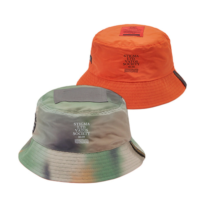스티그마20 CAMOUFLAGE REVERSIBLE BUCKET HAT PATTERN - 풋셀스토어