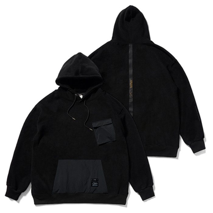 스티그마20 TECH OVERSIZED HEAVY SWEAT HOODIE BLACK - 풋셀스토어
