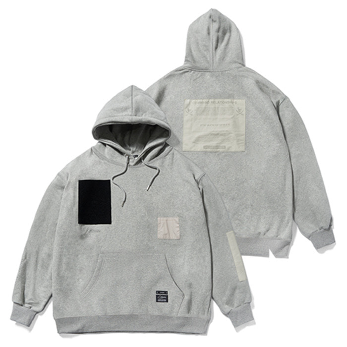 스티그마DV TECH OVERSIZED HEAVY SWEAT HOODIE GREY - 풋셀스토어