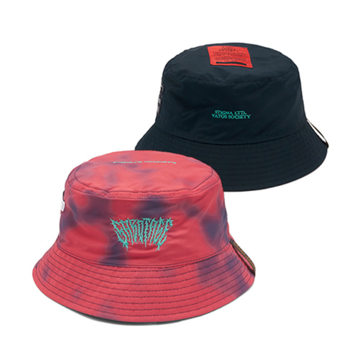 스티그마GAUSSIAN REVERSIBLE BUCKET HAT RED - 풋셀스토어