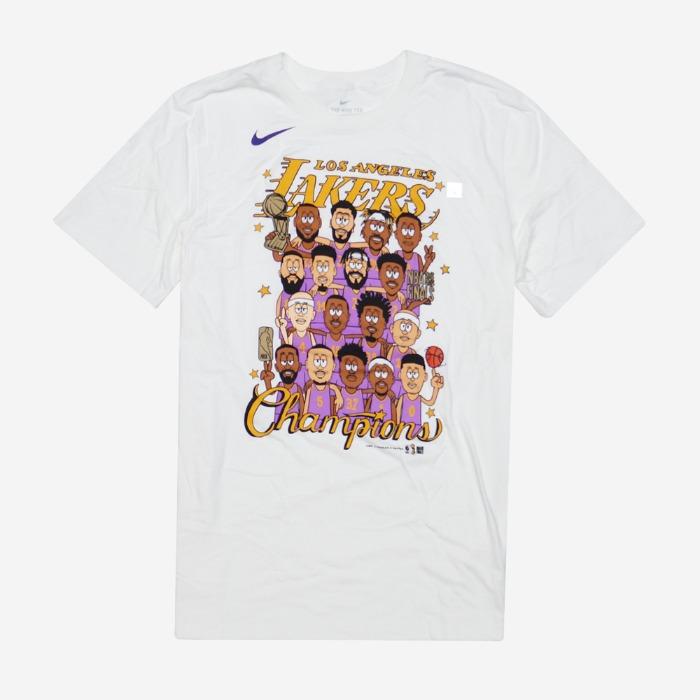 나이키 LA 레이커스 2020 NBA 파이널 챔피언 기념 반팔티