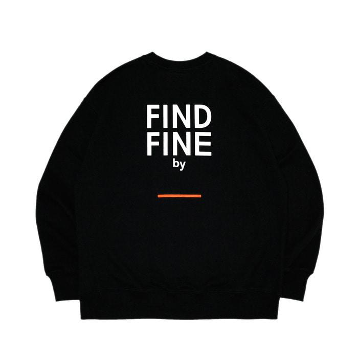 위티나트 FFBW 언더라인 크루넥 긴팔 티셔츠 블랙 / FFBW UNDERLINE crewneck black - 풋셀스토어