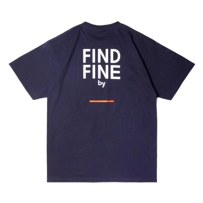 위티나트 FFBW 언더라인 반팔 티셔츠 네이비 / FFBW UNDERLINE SSV T-SHIRT navy - 풋셀스토어