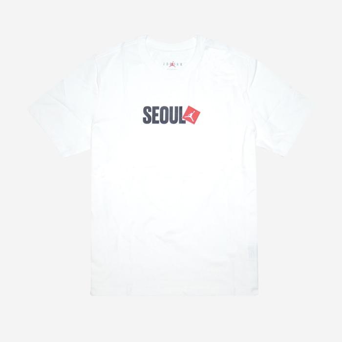 조던 서울 시티 반팔티 화이트