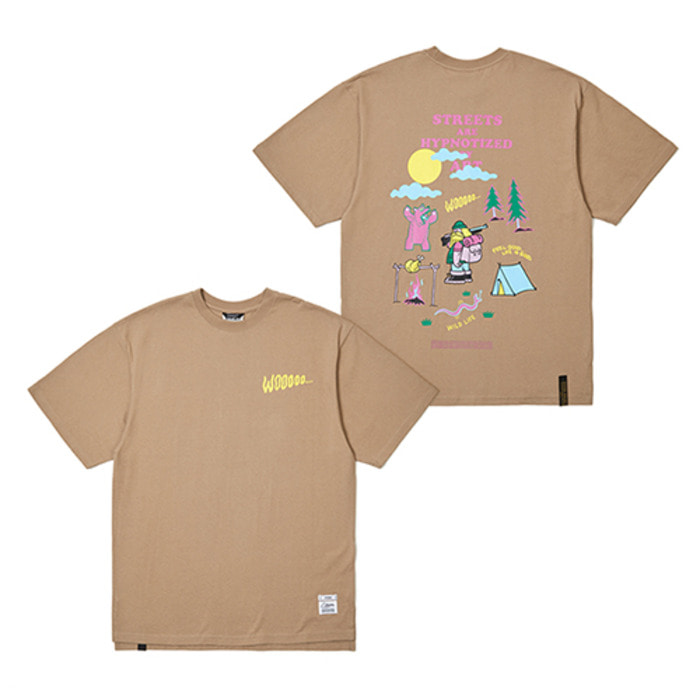 스티그마HUNTING OVERSIZED T-SHIRTS LIGHT BROWN - 풋셀스토어