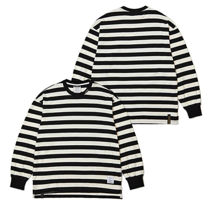 스티그마STRIPE LONG SLEEVES T-SHIRTS BLACK - 풋셀스토어