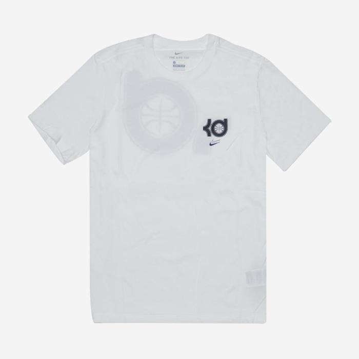 나이키 드라이 핏 KD 로고 반팔티 화이트
