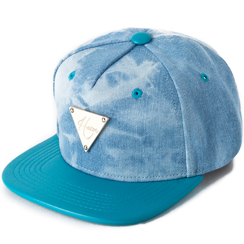 [HATer] 헤이터스냅백 Washed Denim with Green Brim Snapback