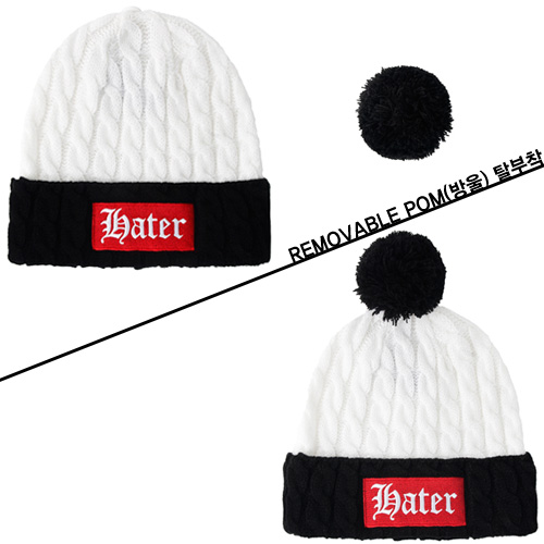 [HATer] 헤이터비니 Hater Patch Cable Knit Beanie - 풋셀스토어