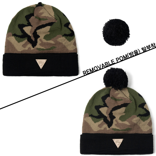 [HATer] 헤이터비니 Camo Beanie with Removable - 풋셀스토어