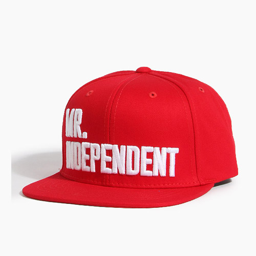 [808hats] 808 Mr.Independent Snapback Red, 도끼스냅백 - 풋셀스토어