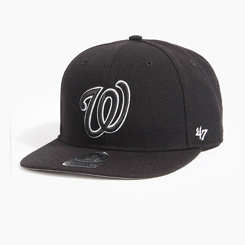 [47BRAND] Sure Shot Snapback Washington(Black), 스냅백