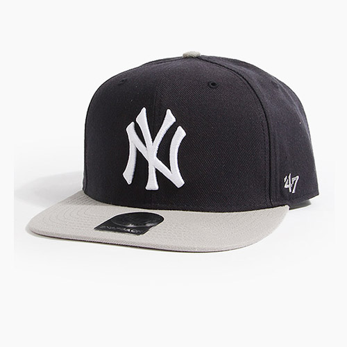 [47BRAND] Sure Shot Snapback Yankees(Black/Grey), 스냅백 - 풋셀스토어