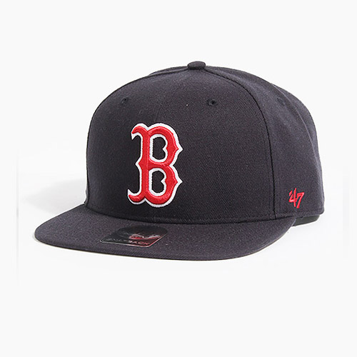[47BRAND] Sure Shot Snapback Red Sox(Navy/Red), 스냅백 - 풋셀스토어