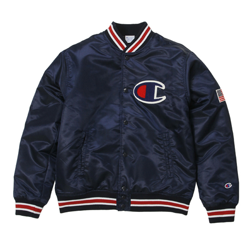 챔피온 베이스볼 자켓(네이비), CHAMPION (JAPAN) Baseball Jacket(C3-G612) Navy