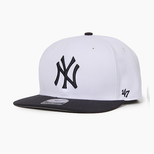 [47BRAND] Sure Shot Snapback Yankees(White/Black), 스냅백