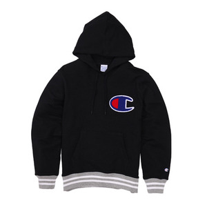 챔피온 일본 빅로고 후디CHAMPION (JAPAN) Big Logo Hoodie(C3-H108) Black