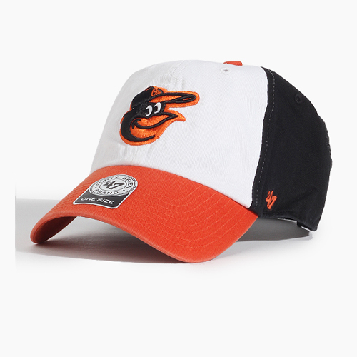[47BRAND] Clean Up Orioles(White/Orange),스트랩백, 볼캡 - 풋셀스토어
