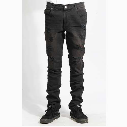 [러스틱다임] RUSTICDIME Taper Fit Denim A.Black, 남자 긴바지