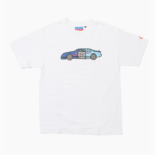 [POLITO] Ice Race Car Tee White, 폴리토 반팔티