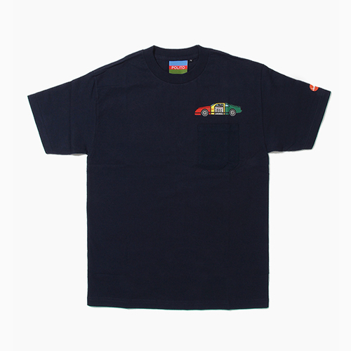 [POLITO] Rasta Race Car Pocket Tee Navy, 폴리토 반팔티