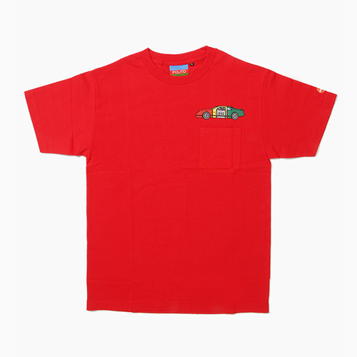[POLITO] Rasta Race Car Pocket Tee Red, 폴리토 반팔티