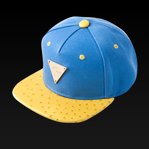 [HATer] 헤이터스냅백 Denver Sky Blue with Yellow Ostrich Brim snapback - 풋셀스토어
