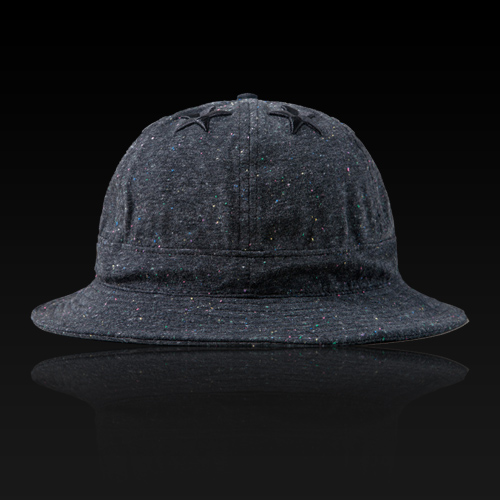 [HATer] 헤이터 버킷햇, Six Stars with Multi Colored nep Dark Grey Bucket Hat