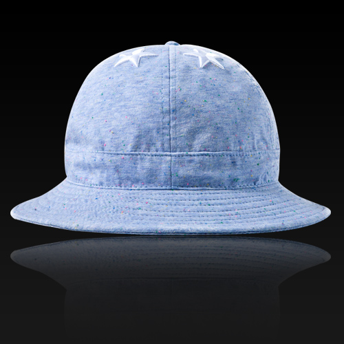 [HATer] 헤이터 버킷햇, Six Stars with Multi Colored nep Sky Blue Bucket Hat - 풋셀스토어
